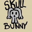 Skull bunny — Stock Photo