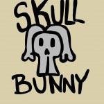 Skull bunny — Stock Photo