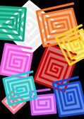 Colored Squares — Stockfoto