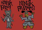 Ninja pets — Stock Photo
