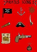 Pirates Icons 1 — Stock Photo