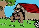 Bull dog home — 图库照片