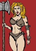 Barbarian woman — Стоковое фото