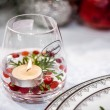 Handmade Glass with Candle — Stockfoto #17849979