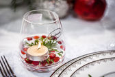 Handmade Glass with Candle — Stock Photo