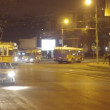 Stock Video: Iasi night traffic