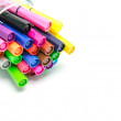 Multicolored Felt Tip Pens on White Background — Stock Photo #32020781