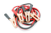 Jumper cables for jump starting a car — Stock Photo