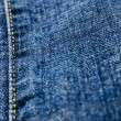 Stock Photo: Seam of blue jeans