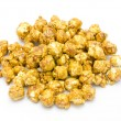 Caramel popcorn on white background — Stock Photo