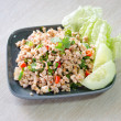 Stock Photo: Larb moo, Thai spicy pork salad