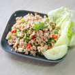 Larb moo, Thai spicy pork salad — Stock Photo