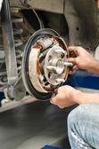 Change new brake pads — Stock Photo