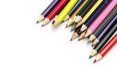 Colour pencils isolated on white background — Stock Photo