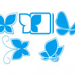Five butterflies — Stock Vector