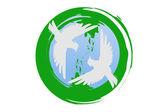 Green planet — Vetorial Stock