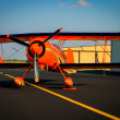 Orange Pitts Airplale - Stock Photo