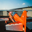 Royalty-Free Stock Photo: Orange Pitts Airplale