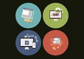 Computer concept icons — Stock Vector