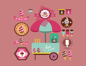 Ice cream design elements — Stock Vector