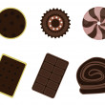 Dessert icon set — Stock Vector