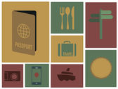Travel icons set. — Stockvector