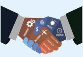 бизнесмен рукопожатие баннер — Cтоковый вектор