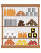 Supermarket display — Stockvector