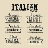 Włoskiej — Wektor stockowy