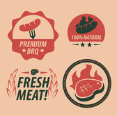 Barbecue grill party icons — Vector de stock