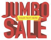 Jumbo sale text with copy space — Stock Vector