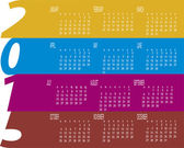 Colorful  Year 2015 Calendar — Stock Vector