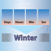 Time Countdown to Winter — Stockvector