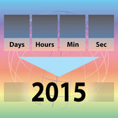 Time Countdown to new year 2015 — 图库矢量图片