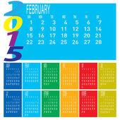 Year 2015 Colorful Calendar — Stock Vector