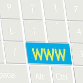 WWW Key Enter Choice — Stock Vector