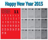 Happy New Year 2015 — Stock Vector