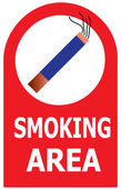 Permitting Smoking Cigarette Area Sign Vector — Stock Vector