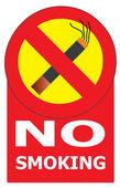 No Smoking Cigarette Area Sign — Stock Vector