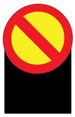 Blank Stop Forbidden Sign Symbol Zone Vector — Stock Vector