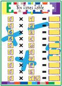 Multiplication Math drill Times Table — Cтоковый вектор