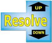 Resolve Enter Key Up or Down — Stock Vector