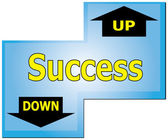 Enter Key to Success Up or Down — Stock Vector