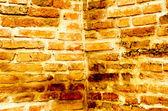 Hörnet av gamla väggen textur i templet — Stockfoto