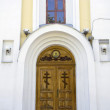 Stock Photo: Closed church door