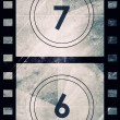 Stock Photo: Grunge film countdown