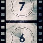 Grunge film countdown — Stock Photo