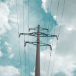 Electrical powerlines - Stock Photo