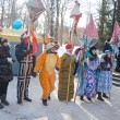 Stock Photo: PENZA, RUSSI- February 14. Celebration of Shrovetide (Maslenit