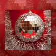 Christmas mirror ball — Stock Photo